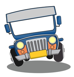 Philippine Jeepney cartoon vector image
