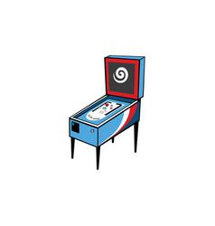 Pinball game arcade console vector