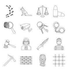 Precious minerals and jeweler set icons in line vector