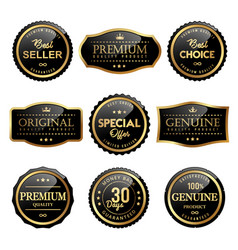 premium quality premium product labels design vector image