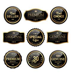 premium quality product labels design vector image