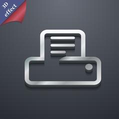 Printing icon symbol 3D style Trendy modern design vector image