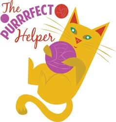 Purrrfect Helper vector