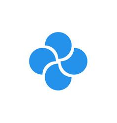 Quatrefoil abstract logo vector