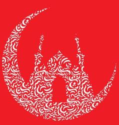 Ramadan Eid Mubarak Greeting vector image