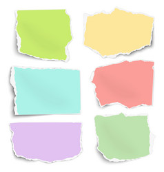 set of color paper fragments different shapes vector image