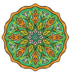 Simple colorful abstract mandala vector