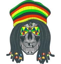 Skull Rastafarian vector