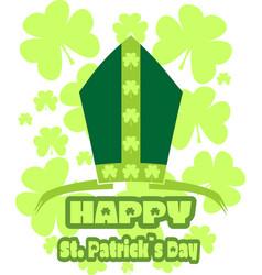st patricks day greeting vector image