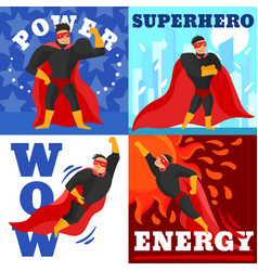 superhero design concept vector image