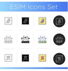 Textile qualities icons set vector