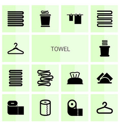 Towel icons vector