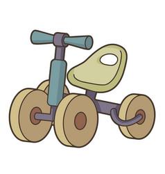 Toy bike vector