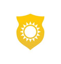 Ultraviolet protection logo icon design template vector