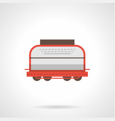 universal boxcar flat color icon vector image