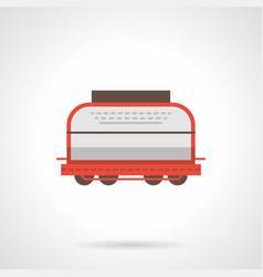 universal boxcar flat color icon vector image