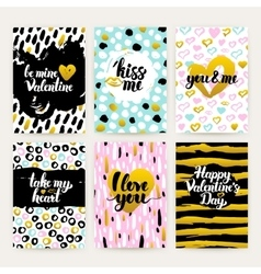 Valentine Day Trendy Hipster Posters vector image