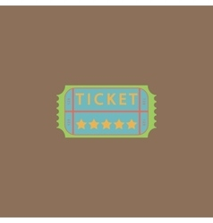 Vintage ticket icon on background vector