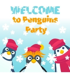 Winter party invitation vector image