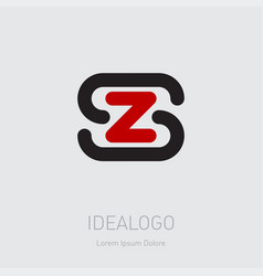 zs - design element or icon initial monogram vector image