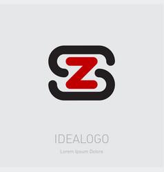 zs - design element or icon initial monogram vector image