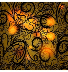 Autumn black lace vector image vector image