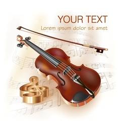 Classical violin vector image