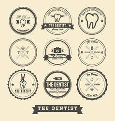 Dentist Label Design vector image vector image