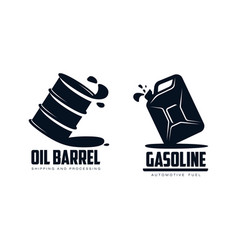 oil barrel canister flat icon vector image vector image
