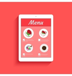 Ordering food in restaurant vector image