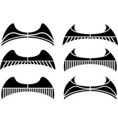 set of wings stencils vector image