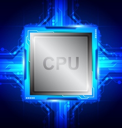 computer processor technology vector image vector image