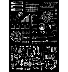 doodle hand drawn infographic set vector image