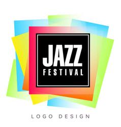 jazz festival logo template creative banner vector image