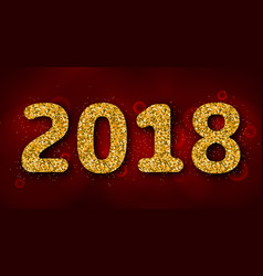 shimmering background with golden dust for 2018 vector image vector image