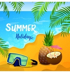 Summer Holidays Background with Tropical Seascape vector image vector image