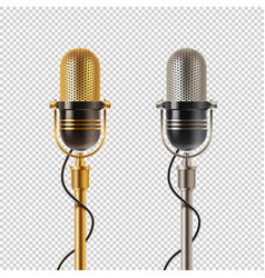two retro microphones vector image