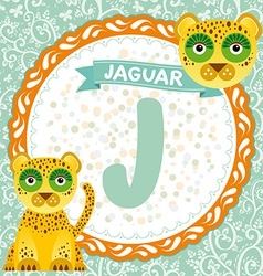 ABC animals J is jaguar Childrens english alphabet vector image vector image