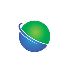 circle sphere business logo vector image