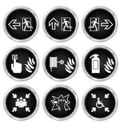 Fire Escape Icons vector image vector image