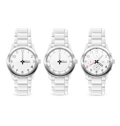 men wrist watch collection of watches vector image