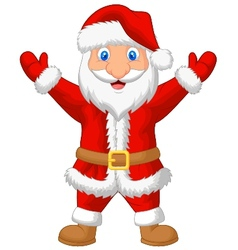 Santa cartoon waving vector image vector image