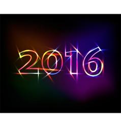 2016 neon lights effect vector
