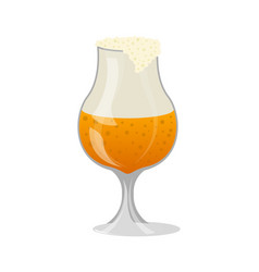 glass of craft beer with foam isolated icon vector image vector image