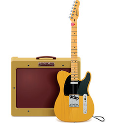 guitar and amp icon vector image vector image