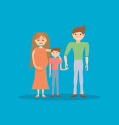 happiness family pregnancy and son vector image