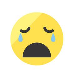 set of emojis on isolated white background vector image