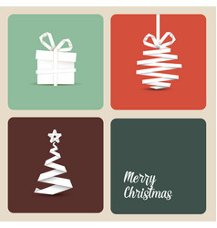 simple retro christmas card vector image vector image