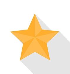 Star Icon with long Shadow flat style vector image