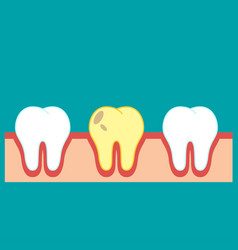 tooth icon flat vector image